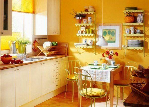 Нна кухне в желтых тонах всегда будет солнечное настроение!