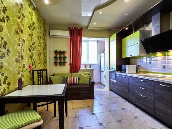 В выборе цветовой палитры кухни нужно учитывать все детали интерьера