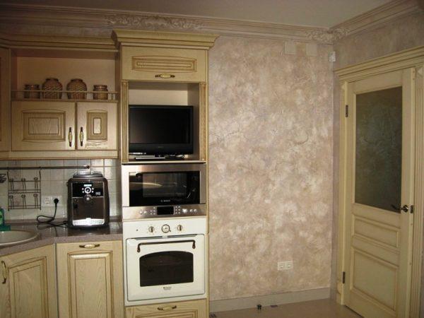 Фактурные стены для кухни 6