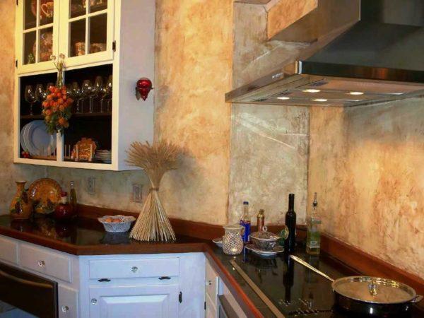 Фактурные стены для кухни 3