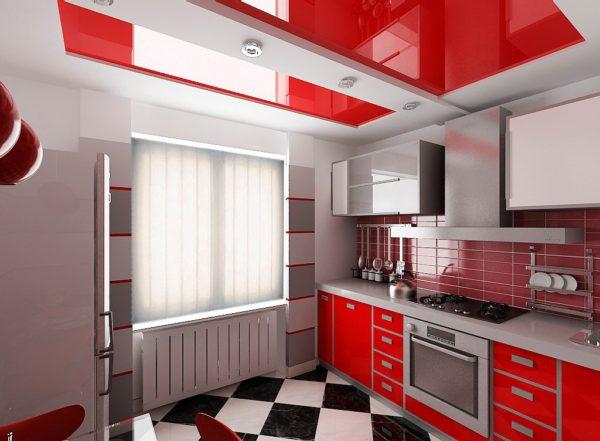 Декор потолка на кухне 2