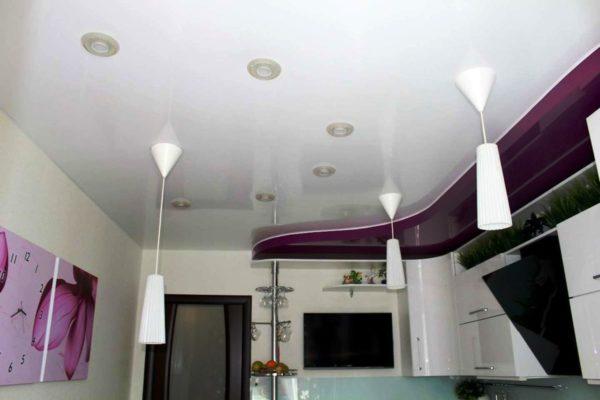 Декор потолка на кухне 6