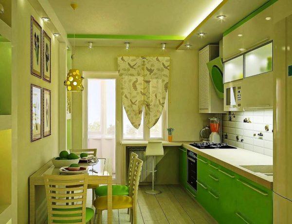 Правильное освещение небольшой кухни в хрущевке