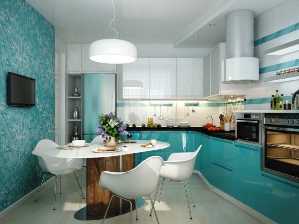 Стены на кухне должны легко отмываться