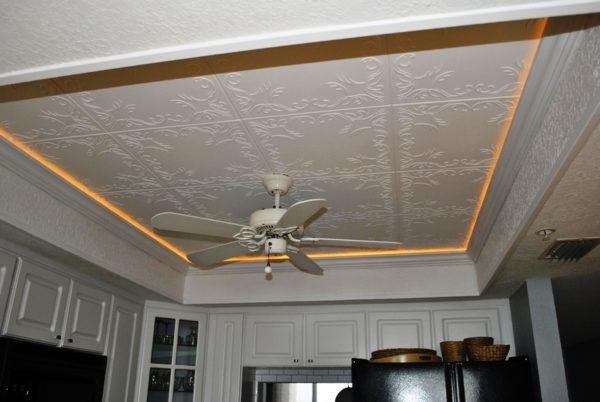 потолочной плитки из пенополистирола для кухни