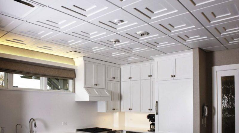 Потолочная плитка из пенополистирола для кухни