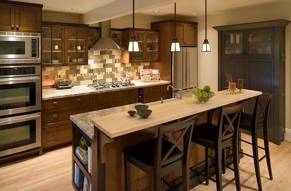 Дизайн кухни 9 кв. м обеденная зона