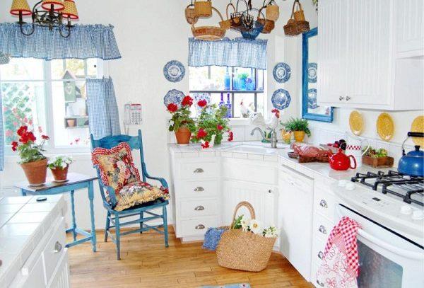 Голубые и синие шторы