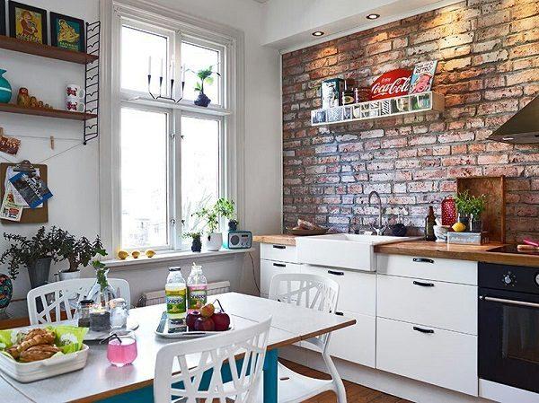 кухня в стиле ретро 9 кв м