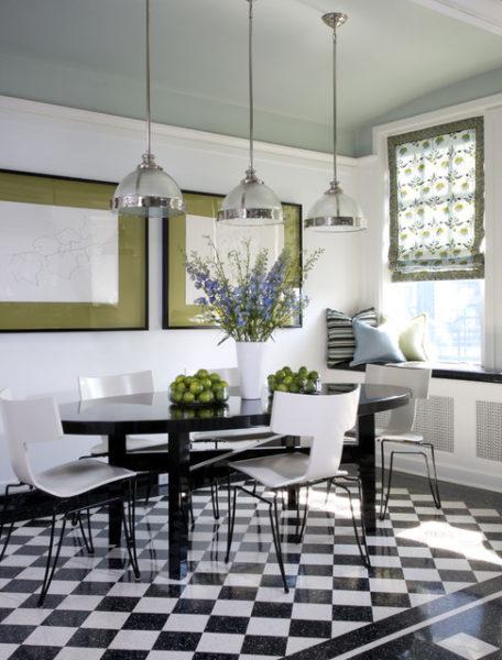 Декорируйте черно-белую кухню оригинально