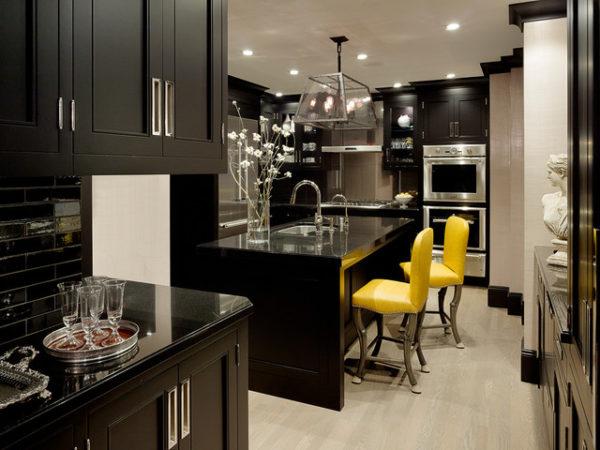 черно-белая кухня дизайн фото интерьера