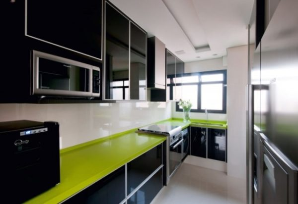 10 вариантов оптимального дизайна черно-белой кухни