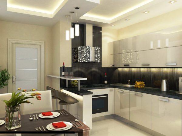 Дизайн угловой кухни 12-14 кв метров