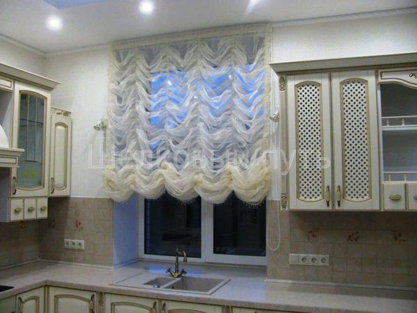 Французские шторы на кухню 2