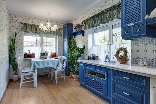 шторы в стиле прованс фото на кухню