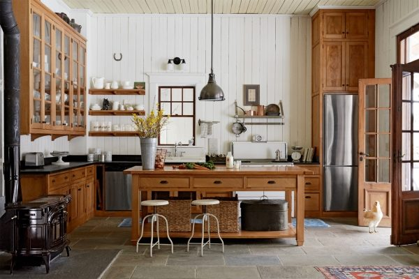 Интерьер в стиле кантри на кухне