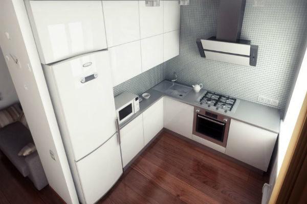 Кухня встроенная в нишу