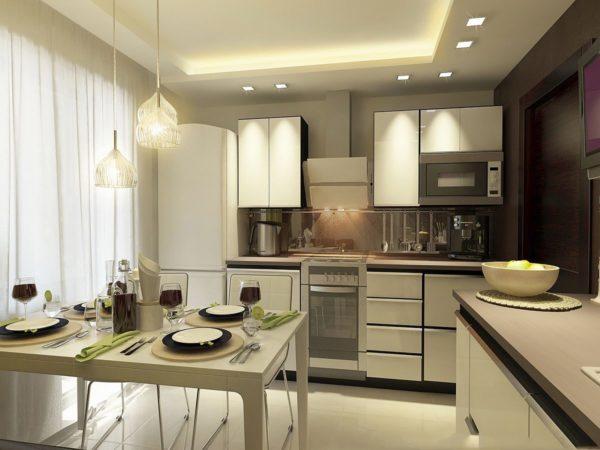 Обеденная зона для кухни 9 кв. м 1