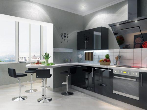 Современный дизайн 9 метровой кухни 5