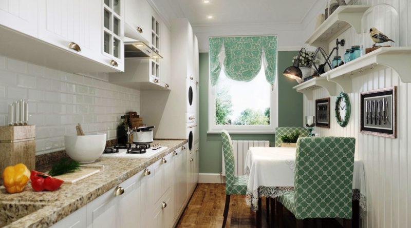 Современный дизайн 9 метровой кухни 6
