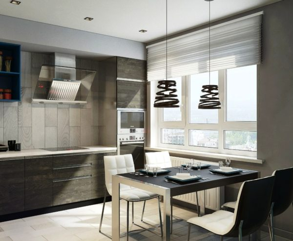 Современный дизайн 9 метровой кухни 3