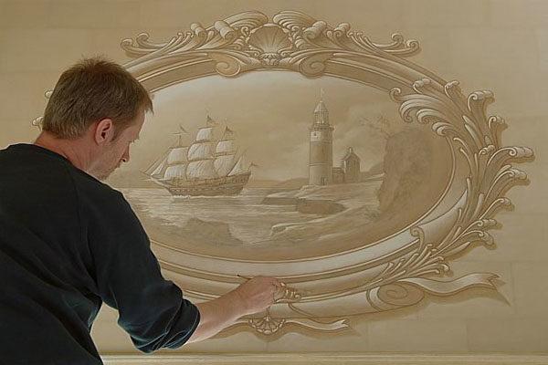 фреска с эффектом объёма