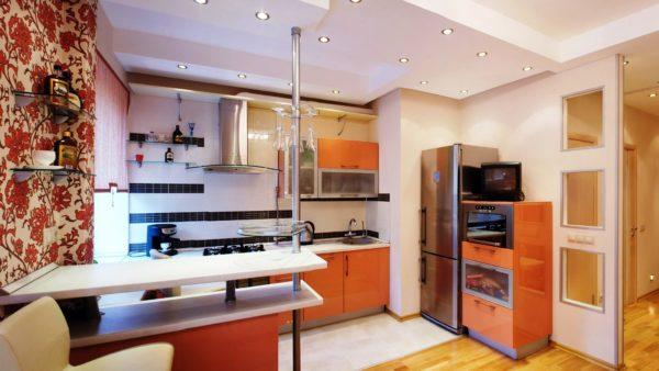 Барная стойка на маленькой кухни