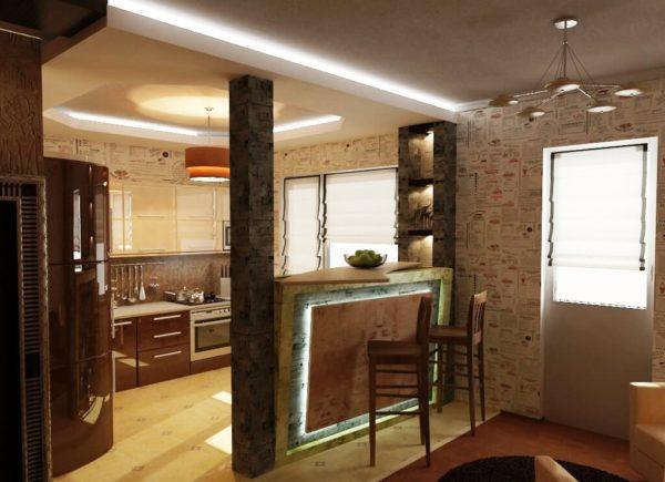 Барные стулья на кухне с барной стойкой