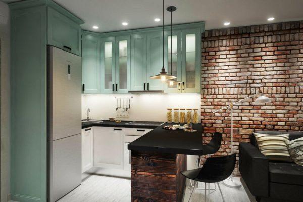 Барная стойка - идеальный вариант для квартиры-студии