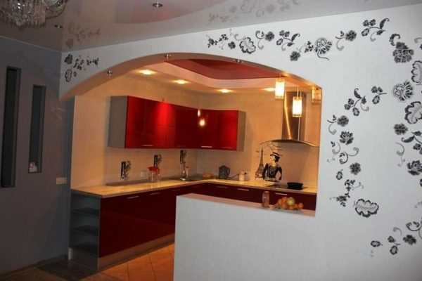 Перегородки из гипсокартона на кухне часто используют для зонирования пространства