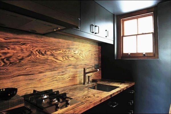 Кухонный фартук из дерева