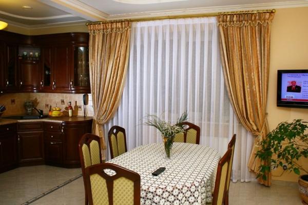 шелковые шторы гардины для кухни