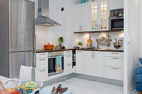 Мебель для кухни в скандинавском стиле