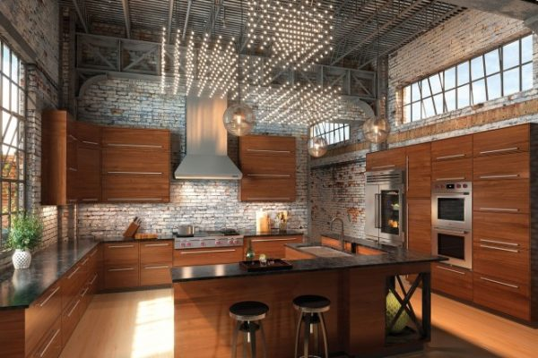 Мебель для кухни в стиле лофт