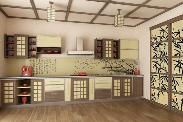 выбор кухонной мебели в японском стиле