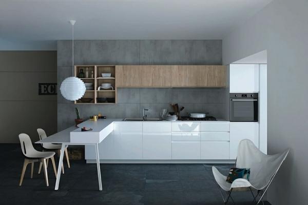 Кухонные гарнитуры в стиле минимализм