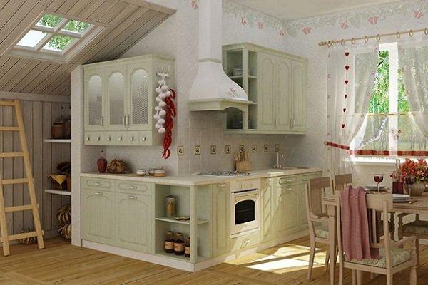 Мебель в стиле прованс для кухни