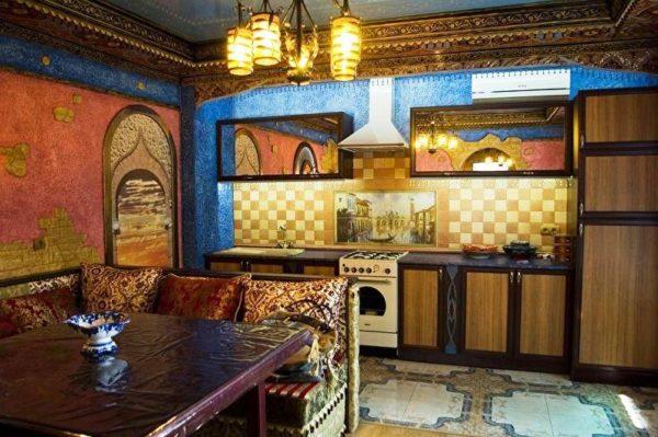 Индийский стиль в интерьере кухни