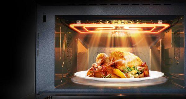 В некоторых моделях присутствуют оба нагревательных элемента,что способствует быстрому созданию аппетитной корочки и подрумяниванию
