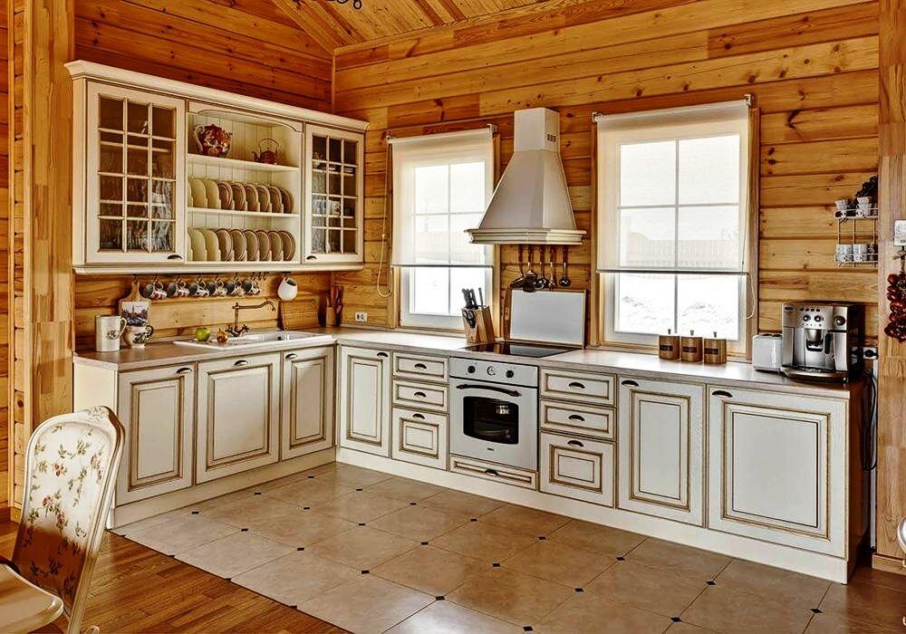 Современный дизайн кухни в русском стиле