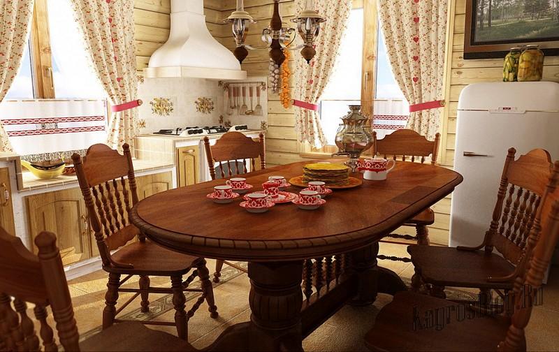 Очень оригинально смотрится деревянная кухонная мебель из светлой древесины, имеющей теплые медовые оттенки