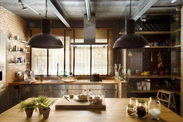 Кухня в стиле лофт должна быть максимально урбанистической и даже несколько брутальной
