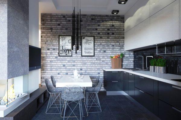 Кухонная мебель в стиле лофт
