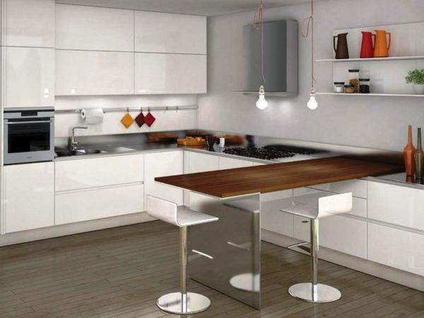 Отделка стен в стиле минимализм на кухне