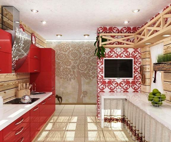 В малогабаритном помещении потолок лучше сделать белым