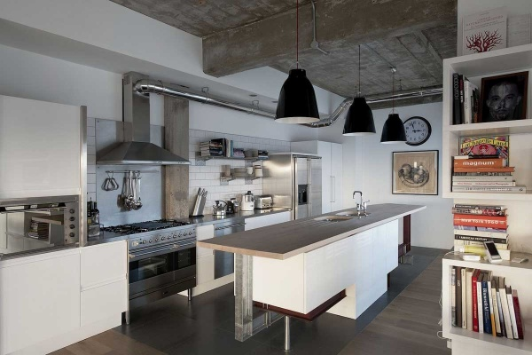 Стиль лофт для кухни фото
