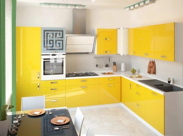 кухни в желтом цвете фото интерьер