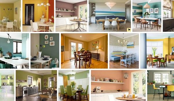 Хроматический цвет стен на кухне