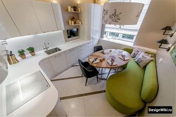 спальное место на кухне площадью 10 м