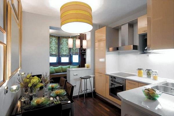 Спальное место на кухне вместо лоджии